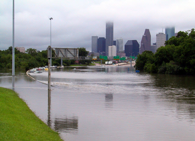 Flooded Streets in Houston
